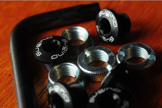 Sugino crank/chainring bolt set (5 pin)