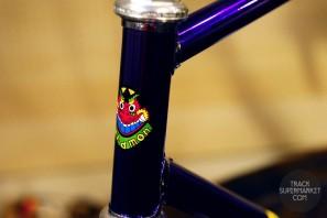 Baramon - Purple over Chrome - 52.5 CM - NJS Track Frame