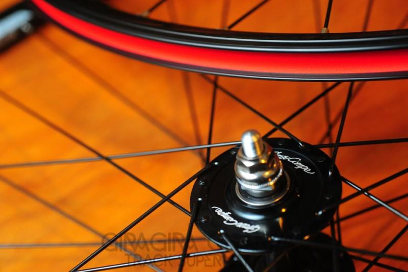 Gran Compe Track Bike Wheel Set - Pair Front/Rear - Black