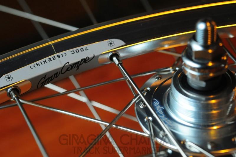 Gran Compe Track Bike Wheel Set - Pair Front/Rear - Silver